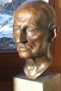 Bronzekopf Georg Florschütz im Deutschen Versicherungsmuseum E.W. Arnoldi in Gotha